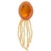 Motif Beaded 4.5x15cm Oval with matching Stone Orange